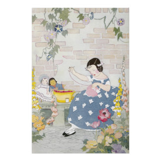 Foxglove及びケシの庭で縫うこと ポスター