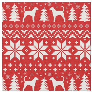Foxhoundはクリスマスのセーターパターンのシルエットを描きます ファブリック