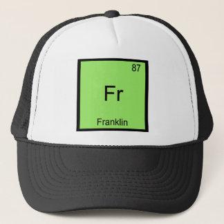 Fr -フランクリンおもしろいな化学要素の記号のティー キャップ