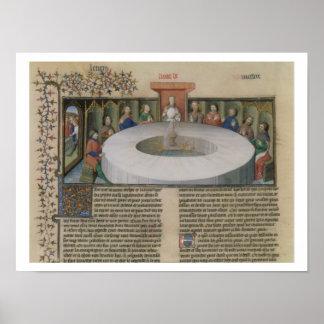 Fr.120 f.524v円卓会議の騎士からの ポスター