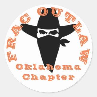 Frac違法のオクラホマの章のステッカー ラウンドシール