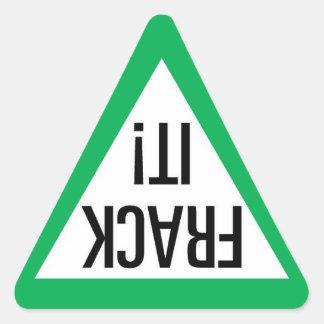 Frackそれ! 三角形 三角形シール