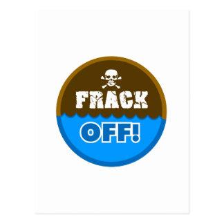FRACK! - frackingか、または汚染または活動家または抗議 ポストカード