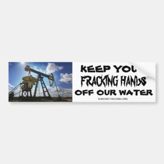 Frackingに対する心配した市民 バンパーステッカー