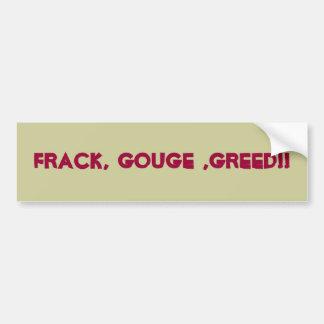 Frackingのカスタムなバンパーステッカー バンパーステッカー