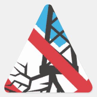 Frackingへのいいえ 三角形シール