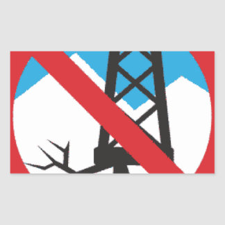 Frackingへのいいえ 長方形シール