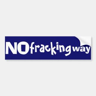 fracking方法バンパーステッカー無し バンパーステッカー