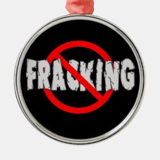 FRACKING無し! 端Fracking シルバーカラー丸型オーナメント