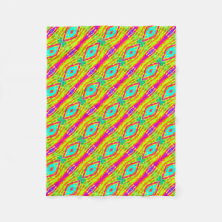 Fractal Tile Color Pop フリースブランケット