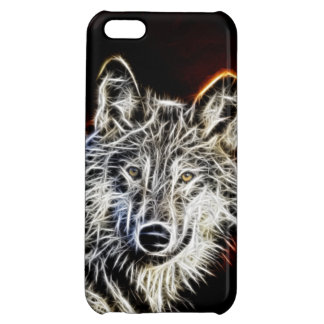 Fractaliusの光沢があるオオカミ iPhone5Cカバー