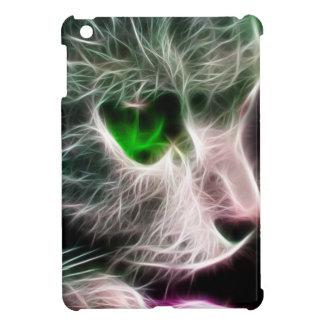 Fractaliusの緑色の目の猫 iPad Mini カバー
