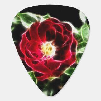 Fractaliusの赤いバラ ギターピック