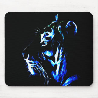 Fractaliusの青いトラ マウスパッド