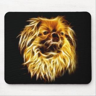 Fractaliusのpekingese犬 マウスパッド