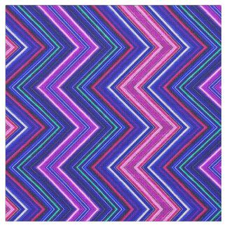 FractaliusシェブロンE-Wの紫色の生地 ファブリック