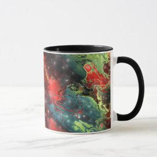 Fractualの星雲3 マグカップ
