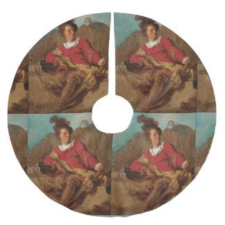 Fragonard著スペイン人として服を着る大修道院長 ブラッシュドポリエステルツリースカート