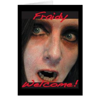 Fraidyの歓迎 カード