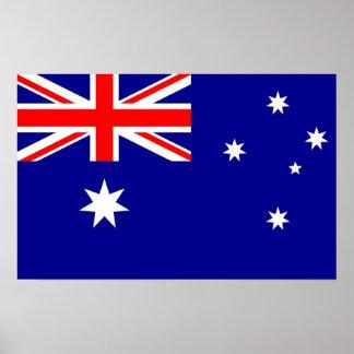 Framed print with Flag of Australia ポスター