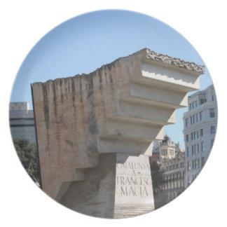 Francesc Macià記念碑、バルセロナ プレート