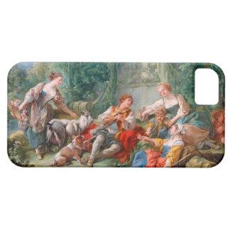 francoisのboucherの羊飼いの牧歌のロココの景色 iPhone SE/5/5s ケース