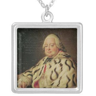 Francoisカミーユdeロレーヌc.1769のポートレート シルバープレートネックレス