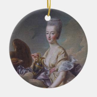 FrançoisヒューバートDrouais著Marieアントワネット女王 陶器製丸型オーナメント