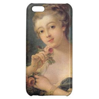 Francois Bo著バラの花束を持つ若い女性 iPhone5Cケース