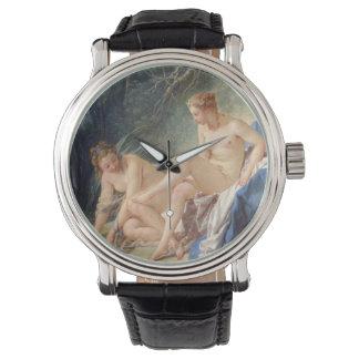 Francois Boucher著彼女のBathを去っているダイアナ 腕時計
