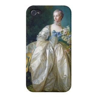 FRANCOIS BOUCHER - BERGERET夫人のポートレートの芸術 iPhone 4/4Sケース