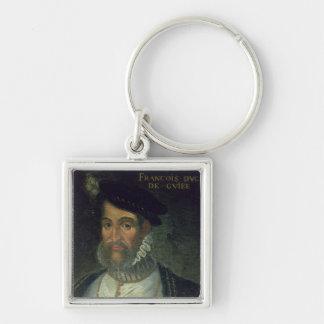 Francois Guise (1519-63年の) Fre第2公爵の、ポートレート キーホルダー
