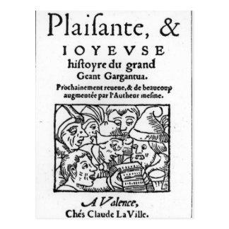 Francois Rabelais著「Gargantua」のTitlepage ポストカード