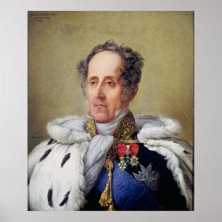 Francois Vicomte de Chateaubriandのポートレート ポスター