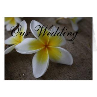 Frangipaniの結婚式招待状カード カード