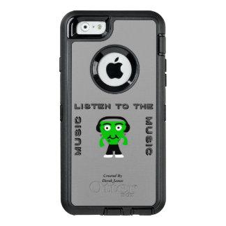 FrankenCheeseは音楽iPhone 6/6sの例に聞きます オッターボックスディフェンダーiPhoneケース