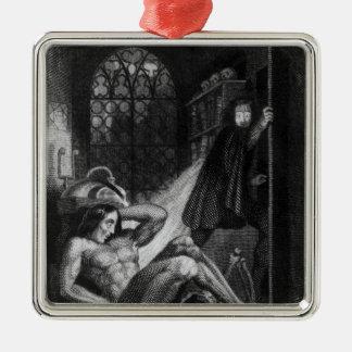 「Frankensteinからのイラストレーション メタルオーナメント