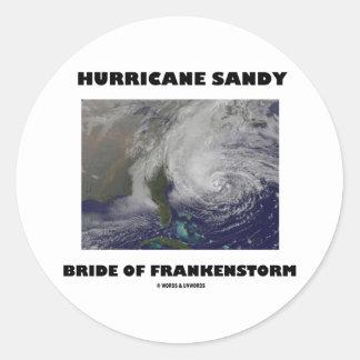 Frankenstormのハリケーンのサンディの花嫁 ラウンドシール