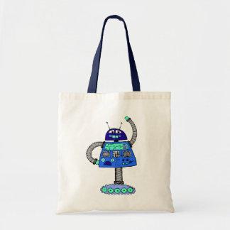 Frankieのロボット: 白の青 トートバッグ