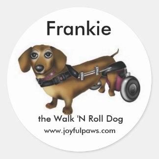 、Frankie小さいのFrankie歩行「Nロール犬 ラウンドシール