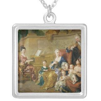 Franqueville家族1711年 シルバープレートネックレス