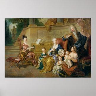 Franqueville家族1711年 ポスター
