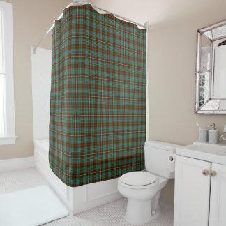 Fraserの一族の狩りのタータンチェックの緑およびブラウンの格子縞 シャワーカーテン