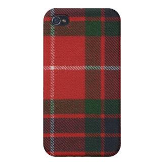 Fraserの赤くモダンなタータンチェックのiphone 4ケース iPhone 4/4Sケース