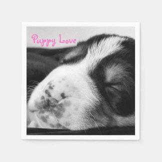Freckled鼻の子犬 スタンダードカクテルナプキン