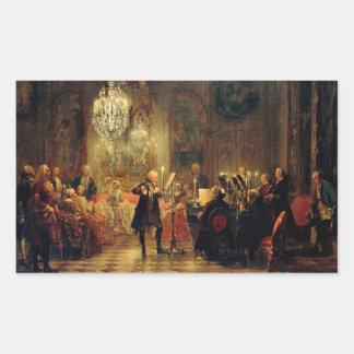 Frederickとのフルートコンサート素晴らしいの 長方形シール