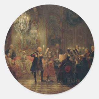 Frederickとのフルートコンサート素晴らしいSanssouci ラウンドシール