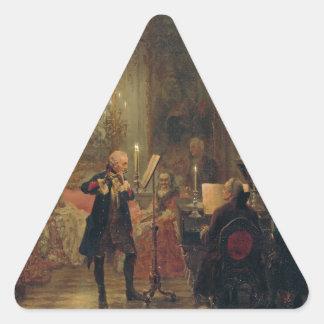 Frederickとのフルートコンサート素晴らしいSanssouci 三角形シール