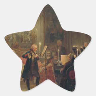 Frederickとのフルートコンサート素晴らしいSanssouci 星シール