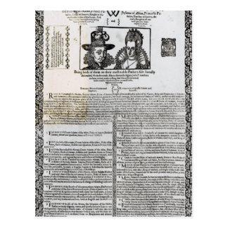 Frederickの結婚の宣言V ポストカード